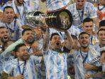 Final Copa America 2021: Messi Akhirnya Juara Bareng Argentina, Neymar Menangis Setelah Brasil Kalah