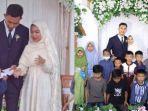 Pengantin di Garut Bagi-bagi Amplop untuk Anak Yatim Saat Resepsi Pernikahan