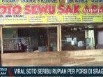 Kisah di Balik Pedagang yang Jual Soto Rp 1.000 per Porsi di Sragen, Khusus Hari Jumat Gratis