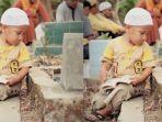 Kisah di Balik Foto Bocah Menangis di Samping Makam, Ternyata Bukan karena Orangtuanya Meninggal