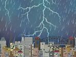 Info BMKG - Prakiraan Cuaca Senin 14 Juni 2021: Padang dan Tanjung Pinang Awas Hujan Petir