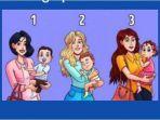 Tes Kepribadian - Cari Tahu Karaktermu dengan Memilih Wanita Mana yang Gendong Anak Orang Lain?