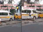 Viral Emak-emak Ngamuk Lalu Lempar Batu ke Pengemudi Mobil, Tantang Berkelahi di Jalan Raya