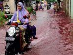 Viral Banjir Berwarna Merah Melanda Pekalongan, Ternyata Baru Pertama Kali Terjadi