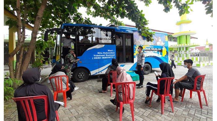 Kembali Beroperasi, Bus Vaksinasi Covid-19 Keliling di Pekanbaru Melayani Sesuai Pengajuan