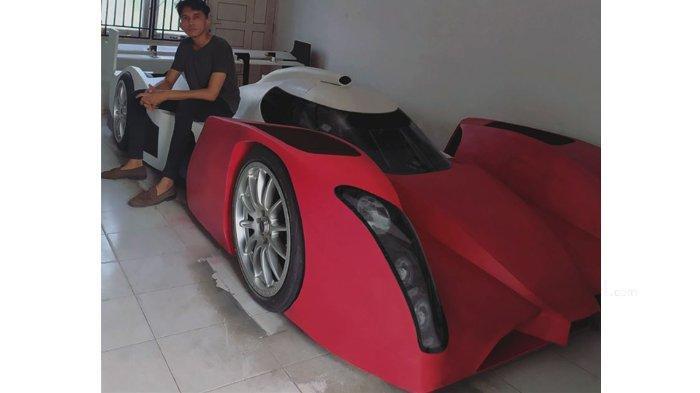 Keren, Pria Asal Panam Pekanbaru Ini Bikin Mobil Balap Sendiri, Diberi Nama Laphon 156