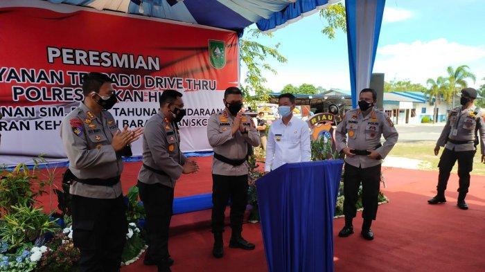 Pertama di Riau, Kapolda Resmikan Drive Thru Pelayanan SIM, Pajak dan SKCK di Rohil