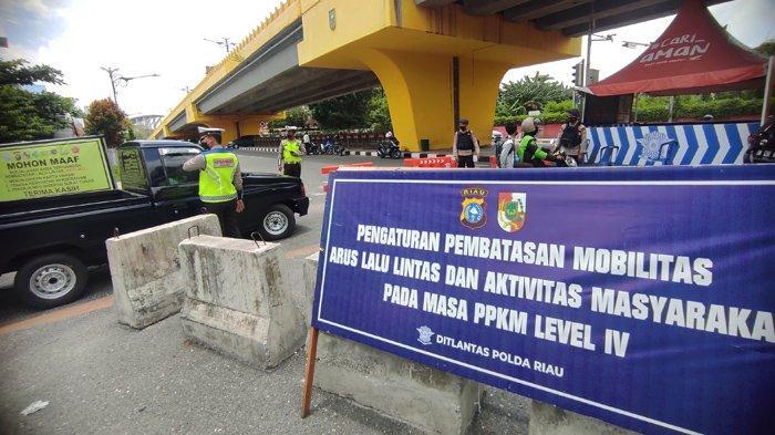 Penyekatan Masih Ada Saat PPKM Level 3 di Pekanbaru, Kapolresta: Ada Spot yang Diberi Kelonggaran