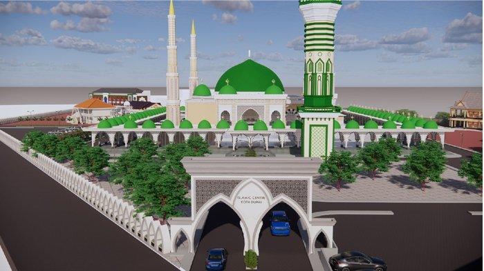 Menara 99 Meter Bakal Hiasi Dumai Islamic Center