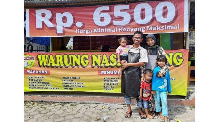 Warung Nasi Tukang Rp 6.500, 1 Porsi Bisa Untuk 2 Orang, Pakai Beras Anak Daro, Rasa Boleh Dicoba