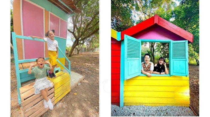 Lama Tidak Rekreasi, Wanita Ini Sulap Kebunnya Jadi Roemah Panggong yang Instagramable di Bengkalis