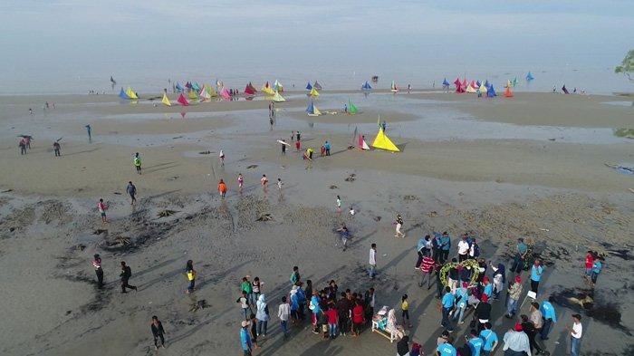 Eksotisme Pantai Beting Beras di Meranti, Miliki Garis Pantai Hingga 4 Kilometer.