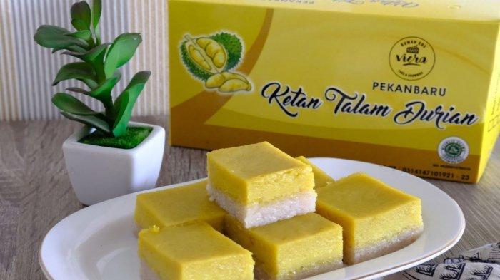 Lezatnya Kue Talam Durian di Rumah Kue Viera Pekanbaru, Cocok Dijadikan Oleh-oleh