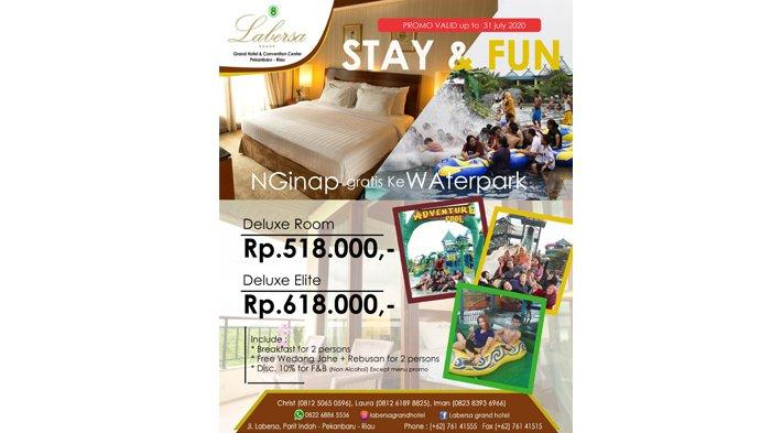 Nginap di Labersa Grand Hotel and Convention Center, Gratis ke Waterpark Labersa Riau Fantasi