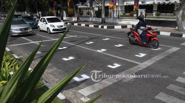 Ada Marka Mirip Titik Start Moto GP di Pekanbaru, Ini Aturannya Bagi Motor dan Mobil