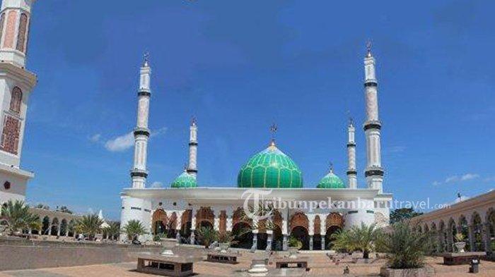 Masjid Agung Islamic Centre Rohul, Tampilkan Panorama Negeri Seribu Suluk Dari Menara 99 M