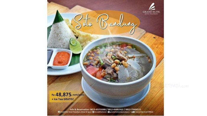 Soto Bandung Hadir Dalam Promo Festival Kuliner Nusantara di Pepito Restaurant Grand Elite Hotel