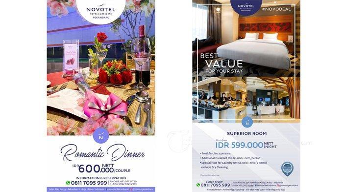 Novotel Pekanbaru Hadirkan Promo Best Value For Your Stay & Romantic Dinner dengan Dekorasi Spesial