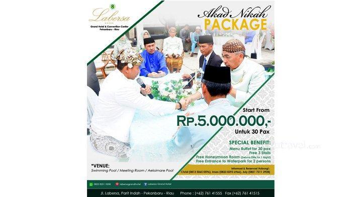 Gelar Pernikahan yang Nyaman di Labersa Hotel, Harga Mulai Rp 5 juta