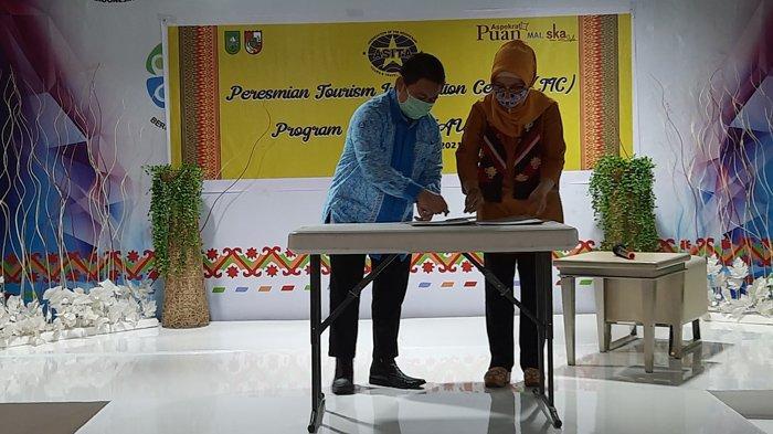 Akses Informasi Ekonomi Kreatif dan Pariwisata Riau Sambil Belanja di Gerai UMKM Mal SKA