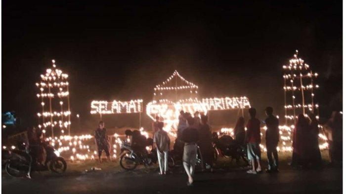 Pesta Lampu Colok Meriahkan Suasana Lebaran di Kuansing