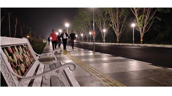 Indahnya Sultan Muzaffar Syah Road Siak, Jalur Hijau yang Terinspirasi Dari Orchard Road Singapura