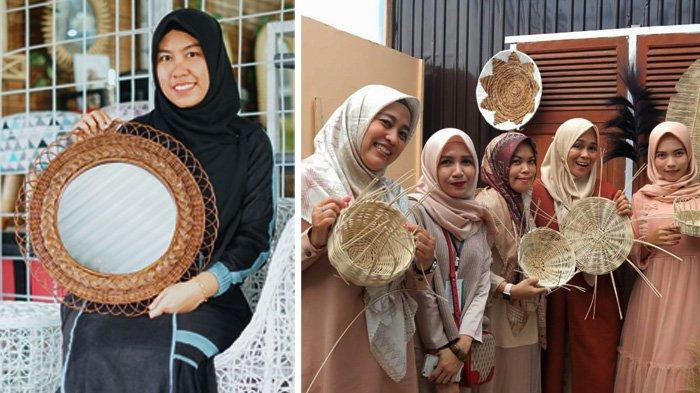 Dilirik Wisatawan Asing, Ratatia Rattan Handmade Kembangkan Kerajinan Rotan Kreatif di Pekanbaru