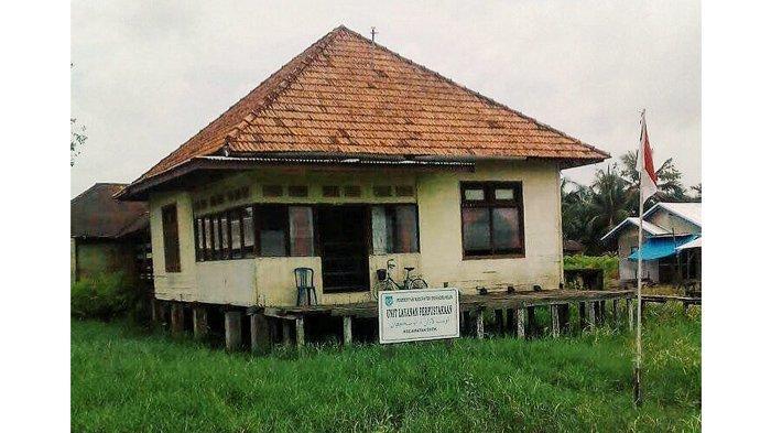 Bangunan Perpustakaan Enok, Saksi Bisu Sejarah Kependudukan Kolonial Belanda Di Inhil
