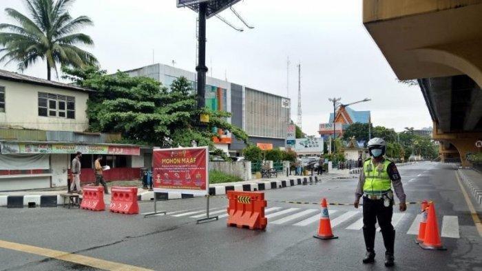 Covid-19 Meningkat, Polresta Pekanbaru Lakukan Penyekatan Jalan, Berikut Lokasinya