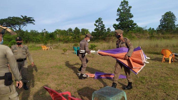 Dijadikan Tempat Mesum, Tenda Ceper Pedagang di Kawasan Stadion Utama Riau Disita Satpol PP