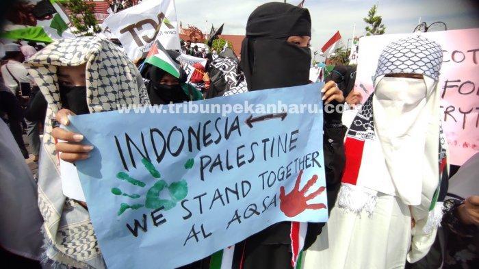 Aksi Solidaritas Bela Palestina di Pekanbaru