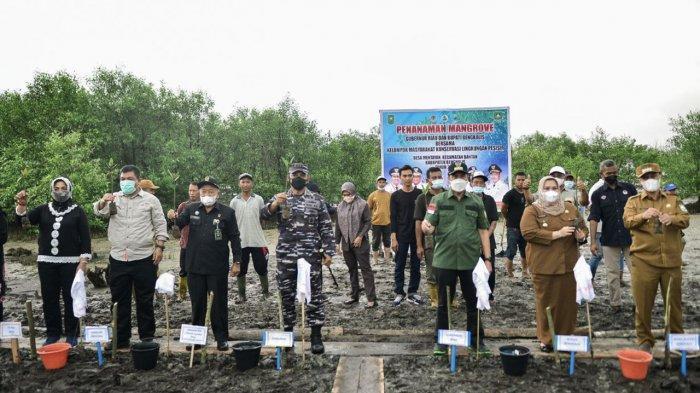 Cegah Abrasi, Gubernur Riau Apresiasi Penananaman Mangrove di Desa Mentayan