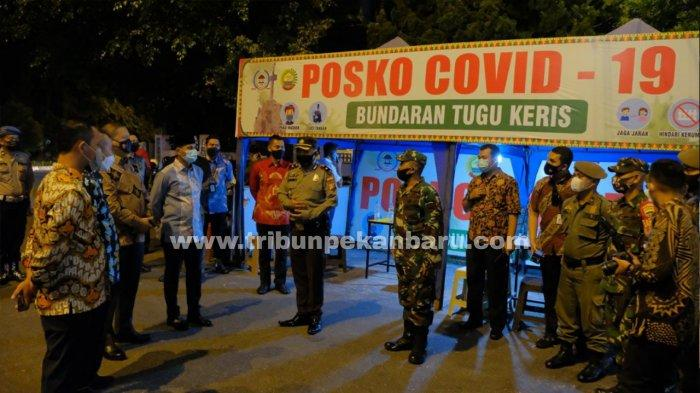 Selama PPKM Level 4, 5 Titik Perbatasan Kota Pekanbaru Disekat 24 Jam