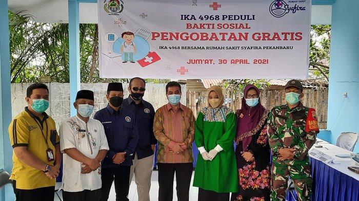 IKA 4968 dan RS Syafira Beri Pengobatan Gratis Untuk Korban Banjir di Tangkerang Labuai Pekanbaru