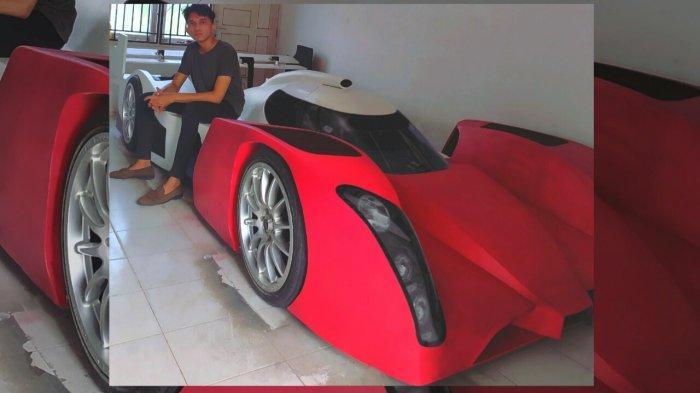 Suka dengan Dunia Balap, Pria di Pekanbaru Riau Ini Buat Mobil Laphon 156