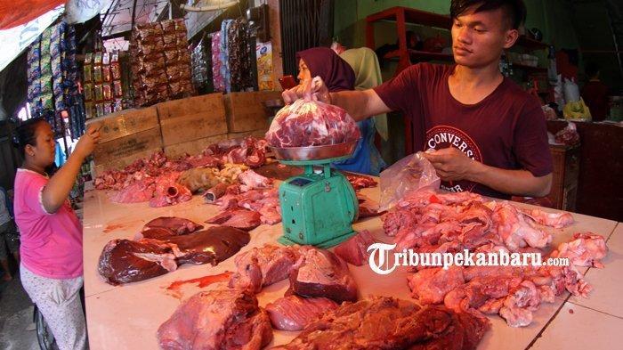 Jelang Lebaran 2021, Harga Daging Sapi dan Ayam Potong di Pekanbaru Naik