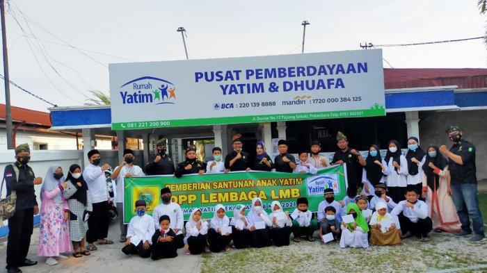 Lembaga Laskar Melayu Bersatu Riau Santuni Anak Yatim