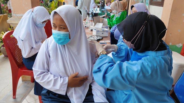 10 Persen Peserta Didik Tingkat SMP di Pekanbaru Sudah Suntik Vaksin Covid-19