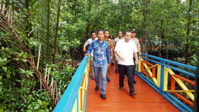Wisata Mangrove Jembatan Pelangi di Kepulauan Meranti