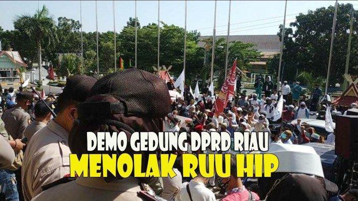 Aksi Tolak RUU HIP di Pekanbaru Riau
