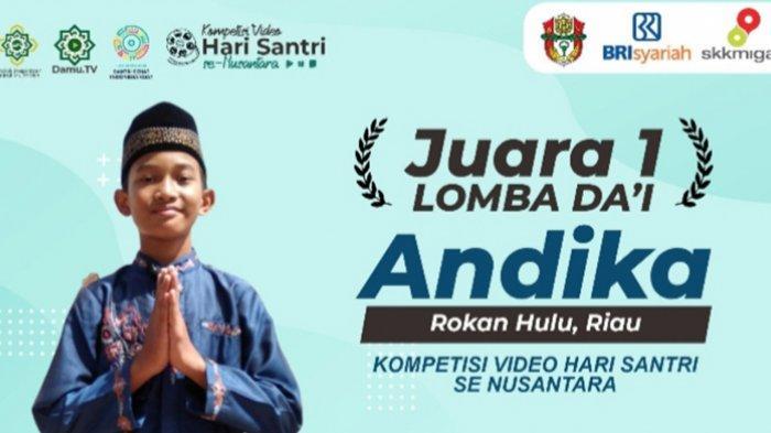 Andika, Murid Kelas 6 SD Asal Rohul Riau Menang Lomba Dai Nasional