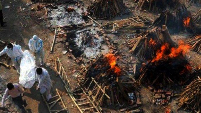 Mengerikan, Dalam 1 Jam Ratusan Orang di India Meninggal Dunia karena Covid-19