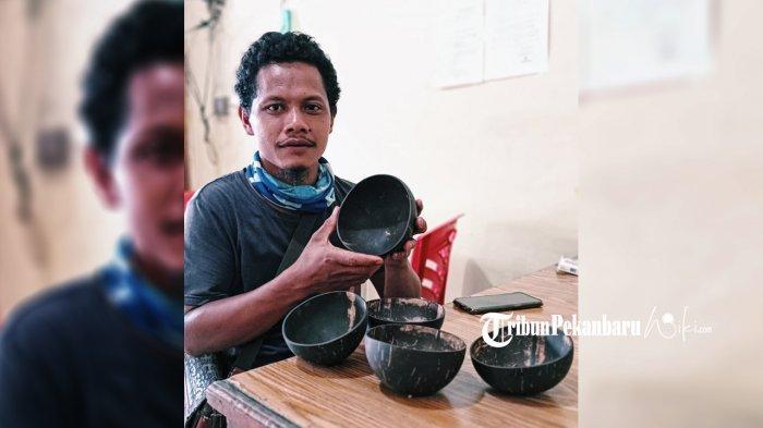 Muhammad Ridin Ridwan, Sulap Batok Kelapa Menjadi Benda Bernilai Ekonomis
