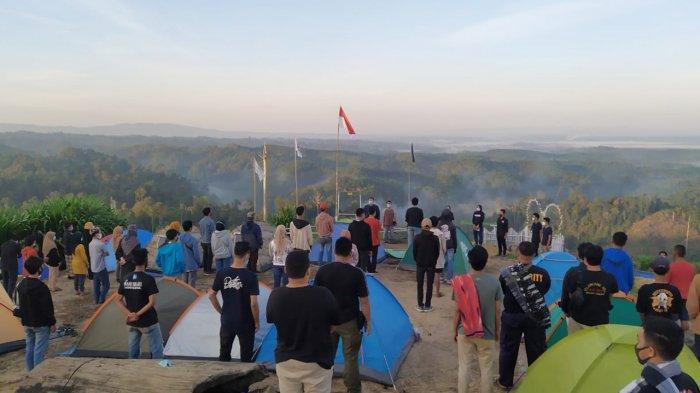 Ratusan Pemuda di Riau Peringai Hari Sumpah Pemuda di Bukit Selancang
