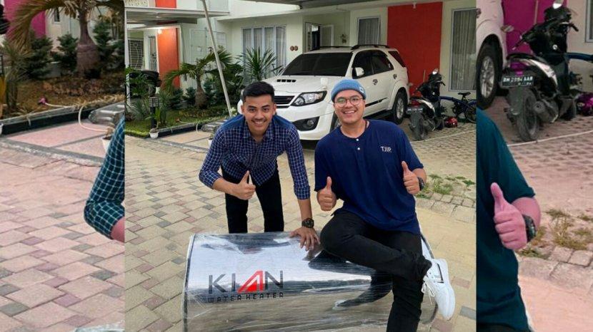 Dua Pemuda Riau Manfaatkan AC Jadi Pemanas Air
