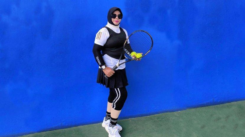 Rosmita Jadikan Tenis Sebagai Rutinitas