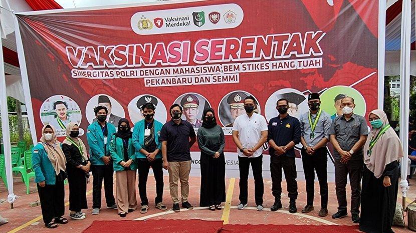 Serikat Mahasiswa Muslim di Riau Ikut Bantu Percepat Vaksinasi Covid-19