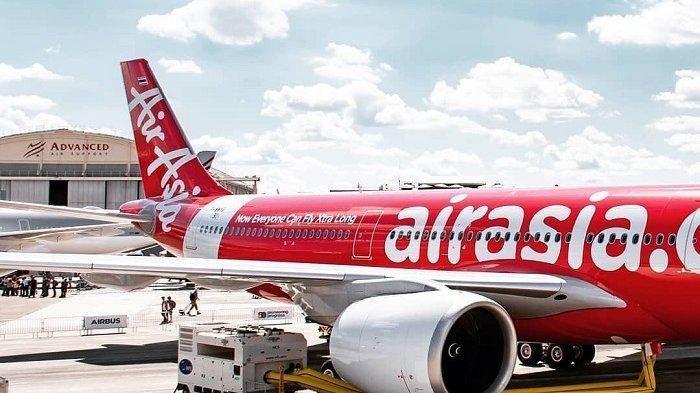 Ilustrasi pesawat AirAsia.