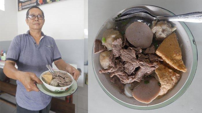 Akiong Tjhang generasi kedua yang menjual Bakso PSP Kalimantan Jalan Sultan Abdurrahman.