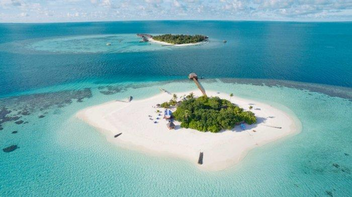 Sebuah Pulau di Maladewa.